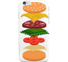Burger anatomy iPhone Case/Skin