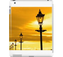 row of vintage lamps at sunset iPad Case/Skin