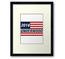 Frank Underwood For US President 2016 Framed Print