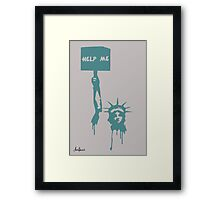 Dying Liberty! Framed Print