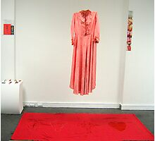 'Mourning Gown For The Bringer of Death' studio installation Photographic Print
