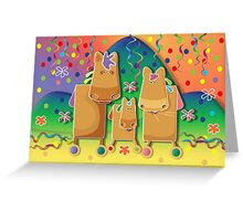Pinata Party Ponies Greeting Card