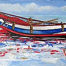 1900s beached Coble by Woodie