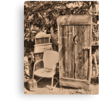 OUTHOUSE AND.....NEXT IN LINE Canvas Print