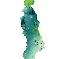 Geisha silhouette artwork for sale by Joanna Szmerdt
