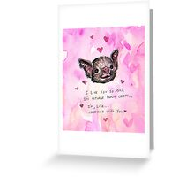 Valentine Bat  Greeting Card