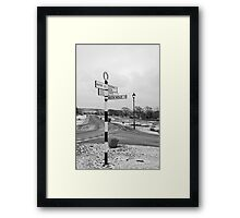 Pointing the Way, Goathland Signpost Framed Print