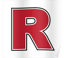 Red Letter R Poster