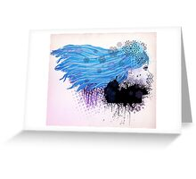 Winter girl illustration Greeting Card