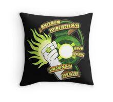 Green Lantern Tattoo Flash Throw Pillow