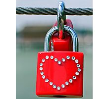 Pad lock Heart Photographic Print