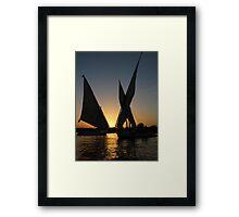 Sunset on Nile Framed Print