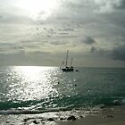 Sailboat off St. Maarten - 1 by ouellettep