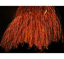 Fireworks - Weeping Willow Photographic Print