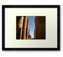 Pillars of history Framed Print