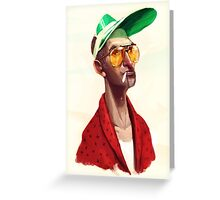 Hunter S . Thompson by Luca Boni Greeting Card