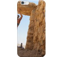 Woman worksout in ancient ruins in the desert  iPhone Case/Skin