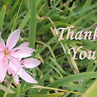 Pink Flower Thank You by CreativeEm