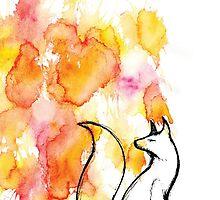 Fox Splatter by MagentaStyle