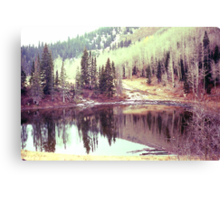 Painterly Lake (1) Canvas Print