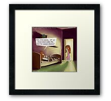 Under The Bed In The Dog House  Framed Print