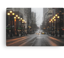Busy Seattle City Streets Canvas Print
