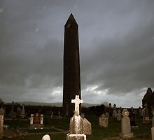 Dark winters evening at Kilmacduagh by John Quinn