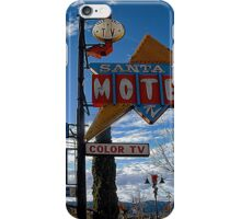 santa fe motel iPhone Case/Skin