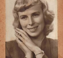 My Mother at 24 - Happy 75th Birthday - by Anthea  Slade