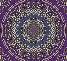 Mandala in Purple and Gold 2 by Lena127