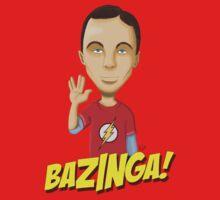 Sheldon Cooper Bazinga! by anapeig