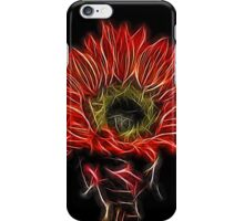 Neon Red Sunflower iPhone Case/Skin