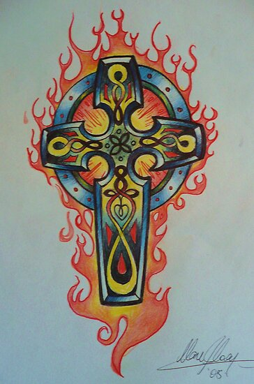 celtic cross tattoo design by