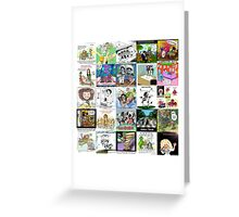 Music Collage by Londons Times Cartoons  Greeting Card