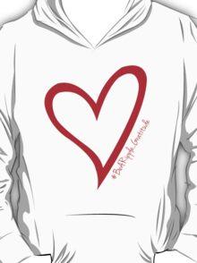 #BeARipple...Gratitude Red Heart on Black T-Shirt