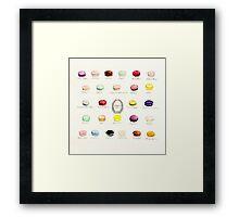 Laduree Macarons Flavor Menu Framed Print