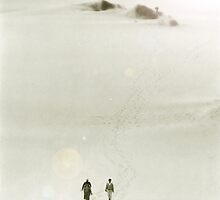 People Walking Across Dunes by SteveOhlsen