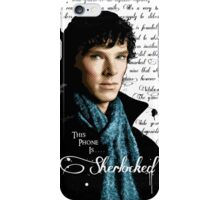 Benedict Cumberbatch, Sherlock Holmes - I Am Sherlocked iPhone Case/Skin