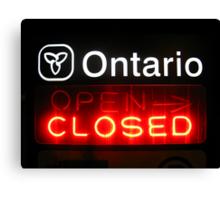 Ontario Closed Canvas Print