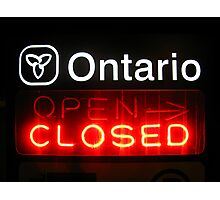 Ontario Closed Photographic Print