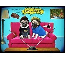 pugvis and squishface Photographic Print