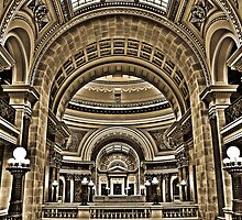 Interior View of Wisconsin State Capital  by Andy Mueller
