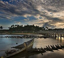 East Coast Fishing Village by Steven  Siow