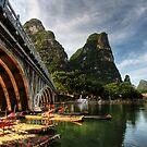 Beauty of Li River Bridge by Christopher Meder