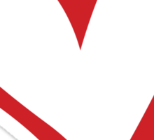 #BeARipple...Flow Red Heart on White Sticker