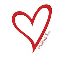 #BeARipple...Focus Red Heart on White by BeARipple