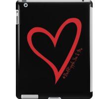 #BeARipple...You & Me Red Heart on Black iPad Case/Skin