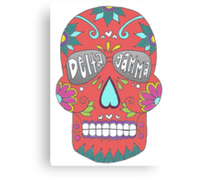 Delta Gamma Sugar Skull Canvas Print