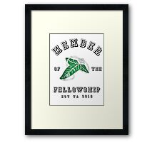 Member of the Fellowship Framed Print