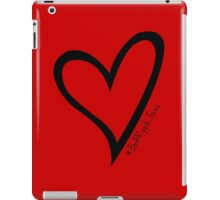 #BeARipple...Focus Black Heart on Red iPad Case/Skin